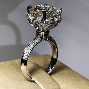 Engagement proposal cz S925 sterling silver ring